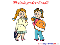 Learners Girls printable First Day at School Images