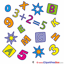 Math Arithmetic Clipart First Day at School free Images