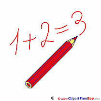 Math Numbers Pencil Clip Art download First Day at School