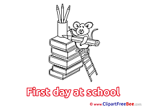 Mouse Pencil Books free Cliparts First Day at School