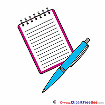 Notebook Pen Pics First Day at School free Cliparts