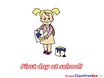 Painter Drawing First Day at School free Images download