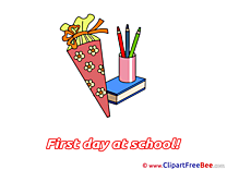 Pencils Book Cone download First Day at School Illustrations