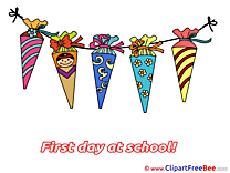 Picture Cones First Day at School Clip Art for free