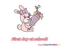 Rabbit Bird Cone free Cliparts First Day at School
