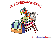 Rat Schoolbag Books First Day at School Illustrations for free