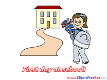 Road Girl Flowers Pics First Day at School free Image