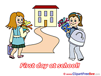 Road Pupils First Day at School Illustrations for free