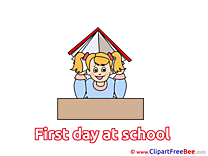 Schoolgirl Book printable First Day at School Images