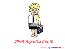 Schoolgirl free Illustration First Day at School