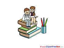 Textbooks Pencils Pupils Clip Art download First Day at School