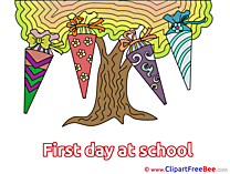 Tree First Day at School Illustrations for free