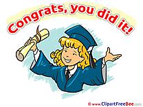 Bachelor Pics Graduation Illustration