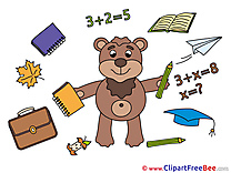 Bear School free Cliparts Graduation