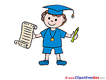 Boy with Diploma Graduation Illustrations for free