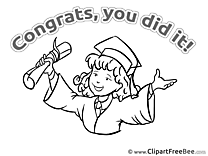 Coloring Bachelor Graduation free Images download