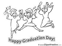 Coloring Girls download Graduation Illustrations