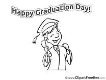 Coloring Man Graduation free Images download