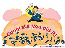 Congratulations Graduation Illustrations for free