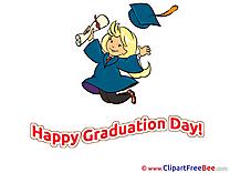 Girl jumping Pics Graduation Illustration