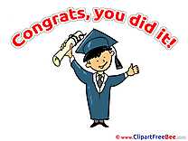 Happy Man Graduation download Illustration