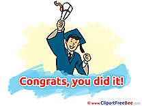 Happy Man printable Illustrations Graduation