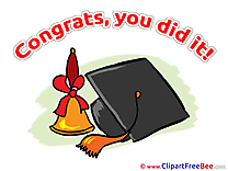 Hat Graduation Clip Art for free