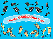 Hats in Sky Graduation Clip Art for free