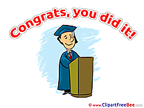 Lecture Cliparts Graduation for free