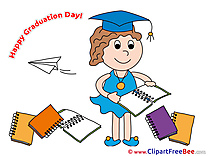 Notepad Girl free Cliparts Graduation