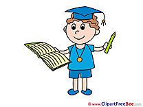 Pupil Student Clipart Graduation Illustrations