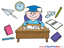 Table Student Clipart Graduation Illustrations