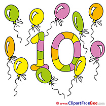 10 Balloons Pics Numbers free Image