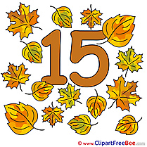 15 Leaves Clipart Numbers free Images