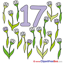 17 Flowers download Clipart Numbers Cliparts