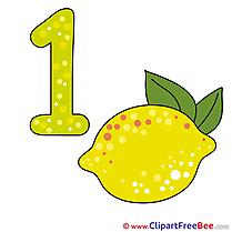 1 Lemon Numbers Illustrations for free