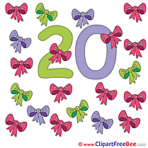 20 Ribbons free Illustration Numbers