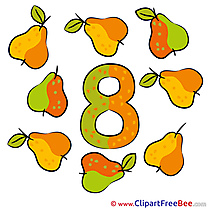 8 Pears download Numbers Illustrations