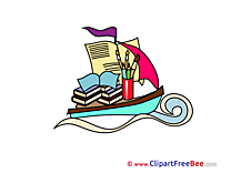 Boat printable Illustrations School