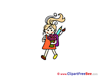 Bouquet Girl free Cliparts School