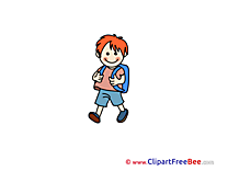 Boy Backpack download Clipart School Cliparts