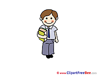 Boy with Book School Clip Art for free