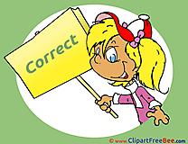 Correct Girl download Clipart School Cliparts