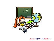 Equation Girl Clipart School Illustrations