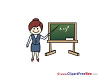 Equation Teacher Clipart School free Images