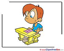 Exam Pupil Clipart School Illustrations