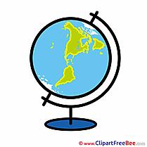 Globe Planet Clipart School Illustrations