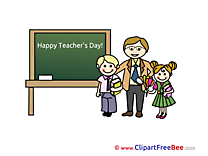Happy Teacher's Day School Illustrations for free