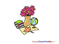 Leaf Flowers Pics School Illustration