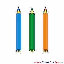 Pencils Pics School free Cliparts